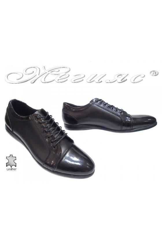 Мъжки обувки 905 black estestvena koja