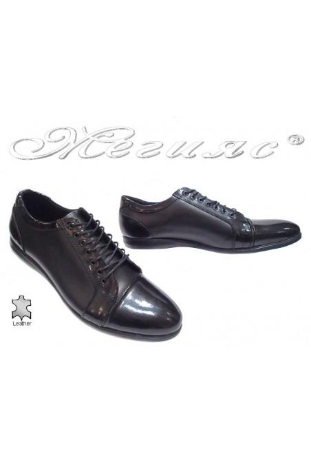 Мъжки обувки 905 черни естествена кожа