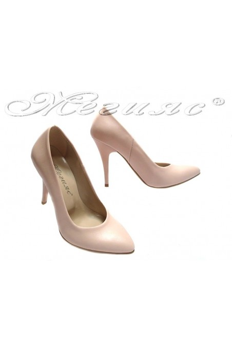 Lady elegant shoes 162 pink high heel pu