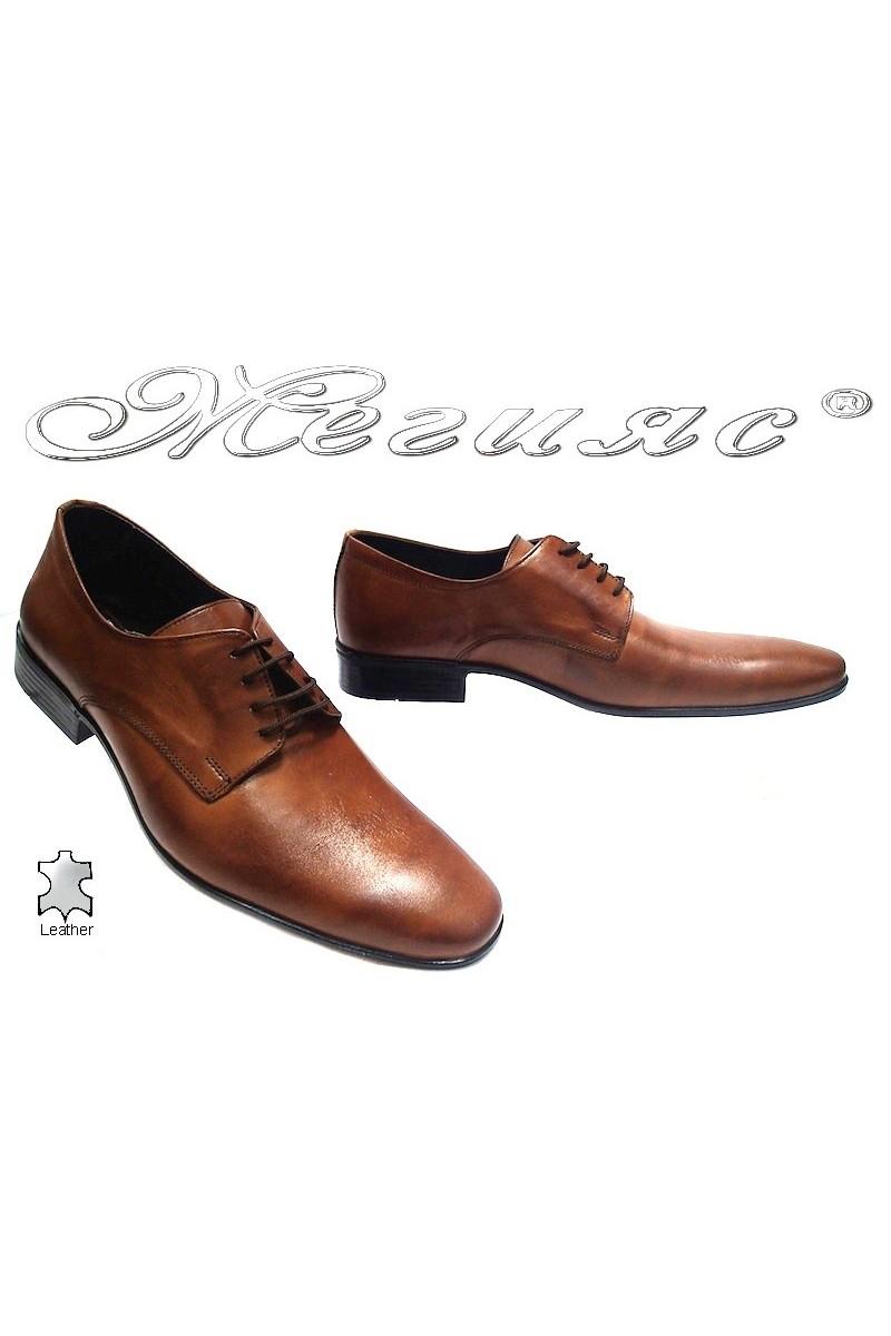 Мъжки обувки Фантазия Р-10 кафяви естествена кожа