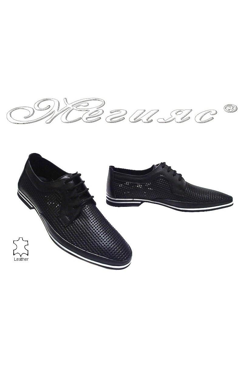 Мъжки обувки Фантазия 082-014 черни естествена кожа