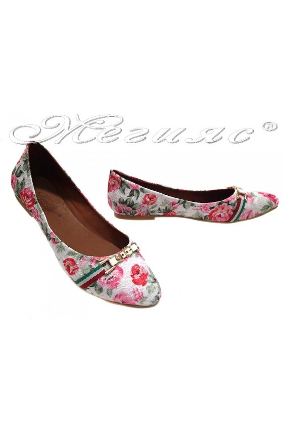 Ladies flat shoes 2013 casual white+pink textiles+pu