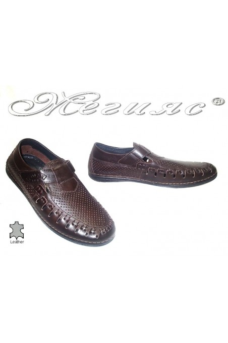 men's shoes 729 dk.brown