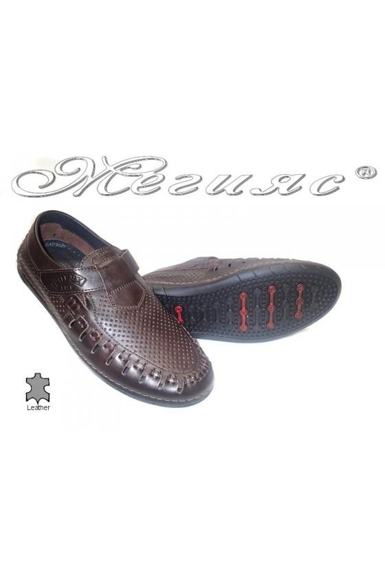 men's shoes 729 dk.brown