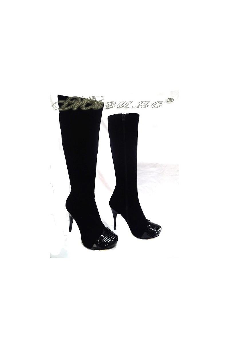 Дамски ботуши елегантни на ток Delia 15