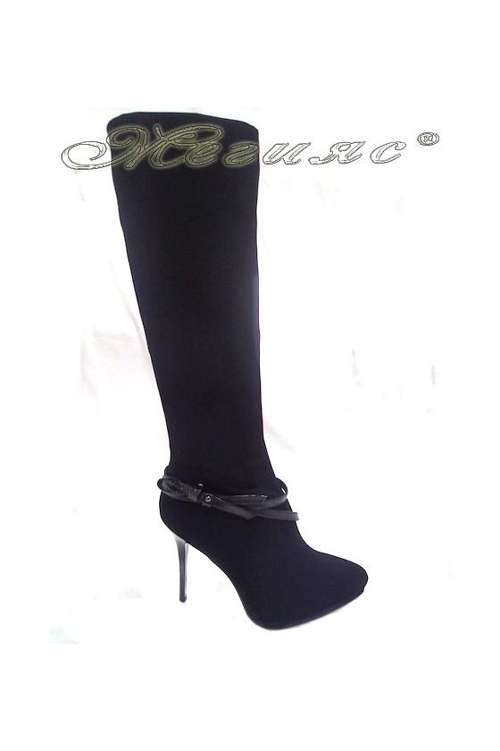 Дамски ботуши елегантни на ток Delia 15-594