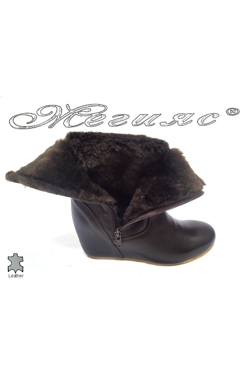 lady boots Manila brown