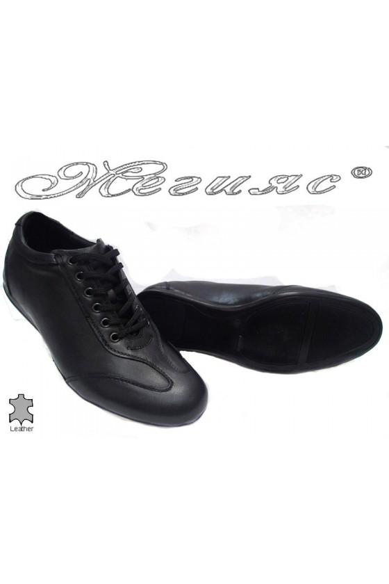 Мъжки обувки 2102черни естествена кожа