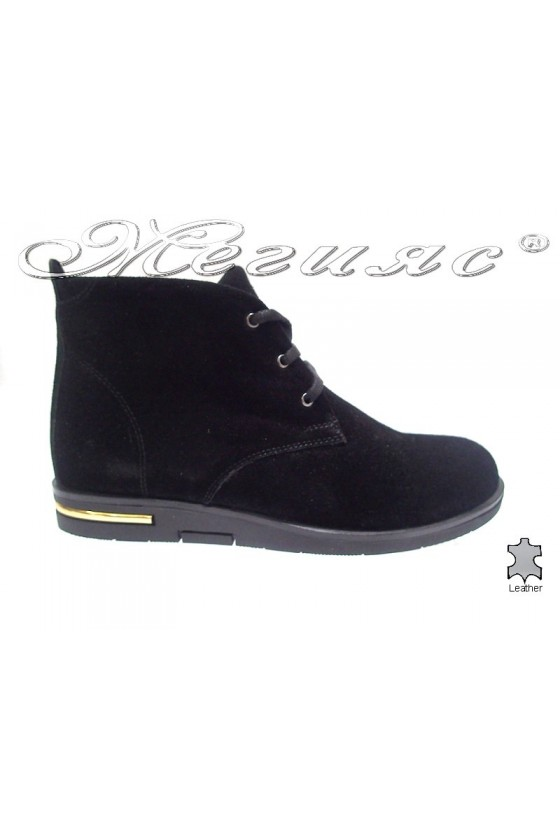 Lady boots 3105 black velur
