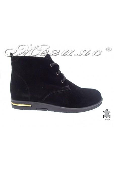 Lady boots 3105 black velur
