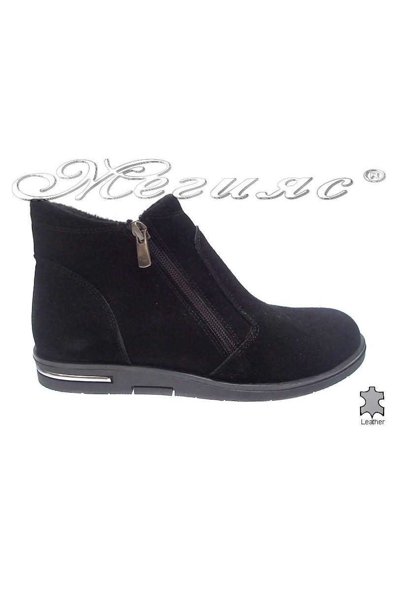 Lady boots 3106 black velur
