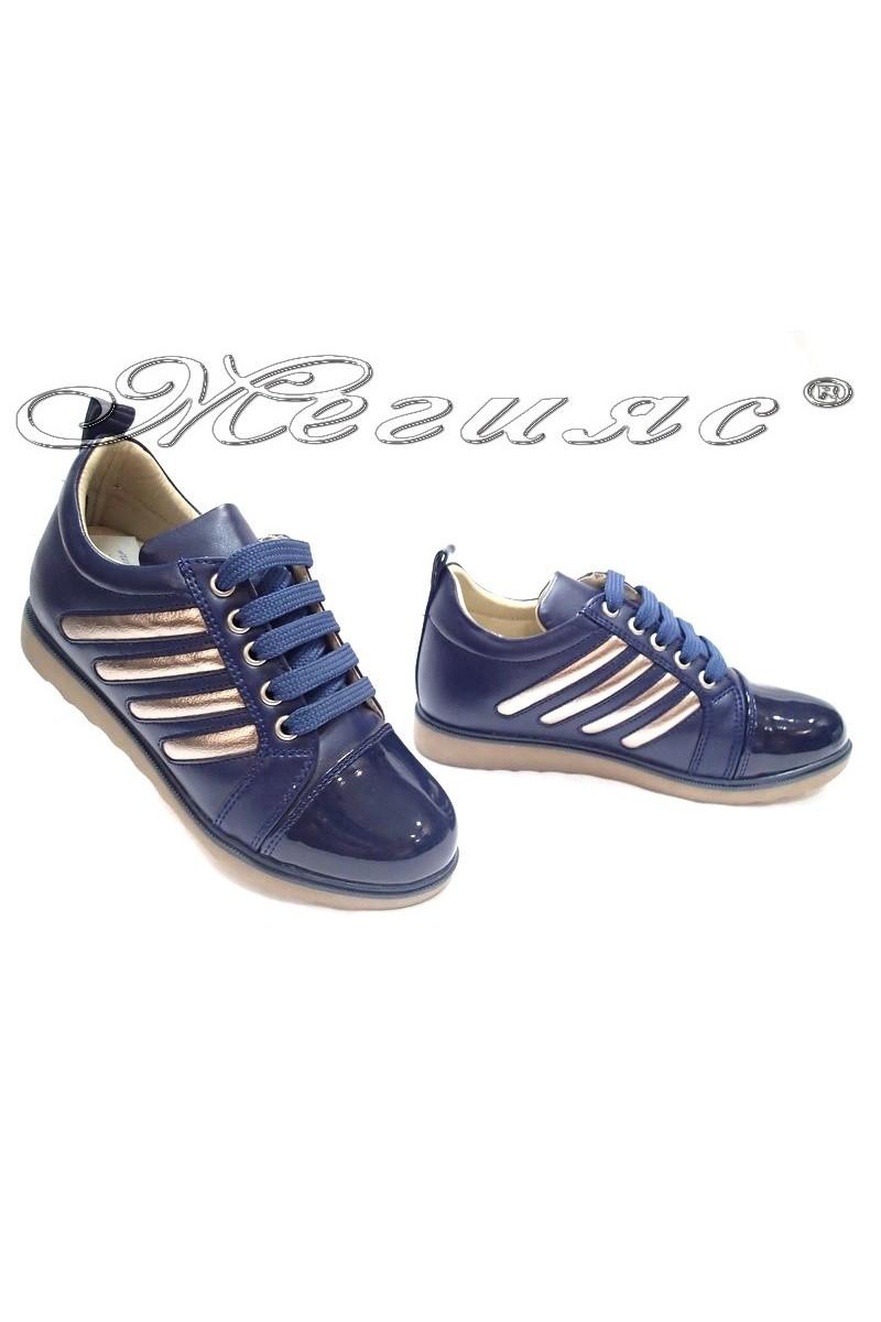 Дамски обувки 1022 тъмно сини