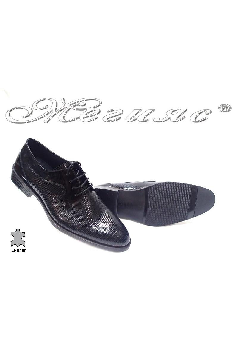 Мъжки обувки Фантазия 316 черни естествен лак