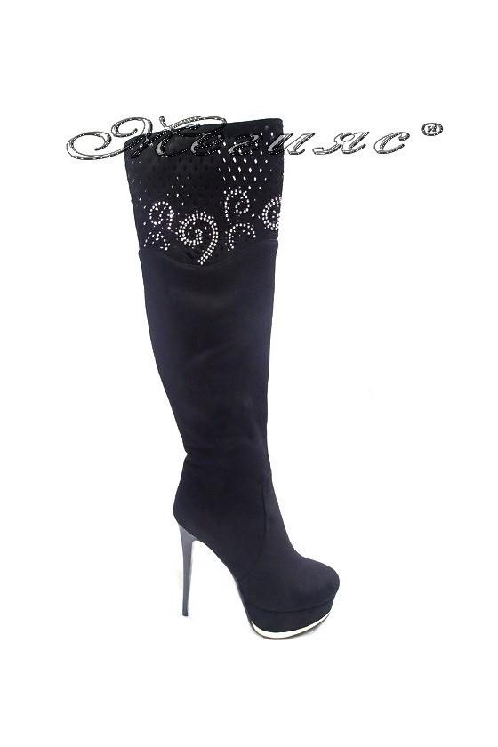 Дамски ботуши елегантни на висок ток ELAINE 15250