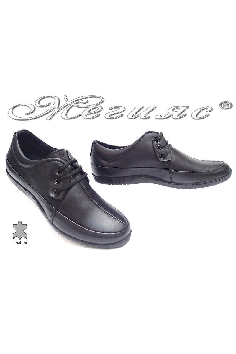 Мъжки обувки Сенс.600 черни естествена кожа