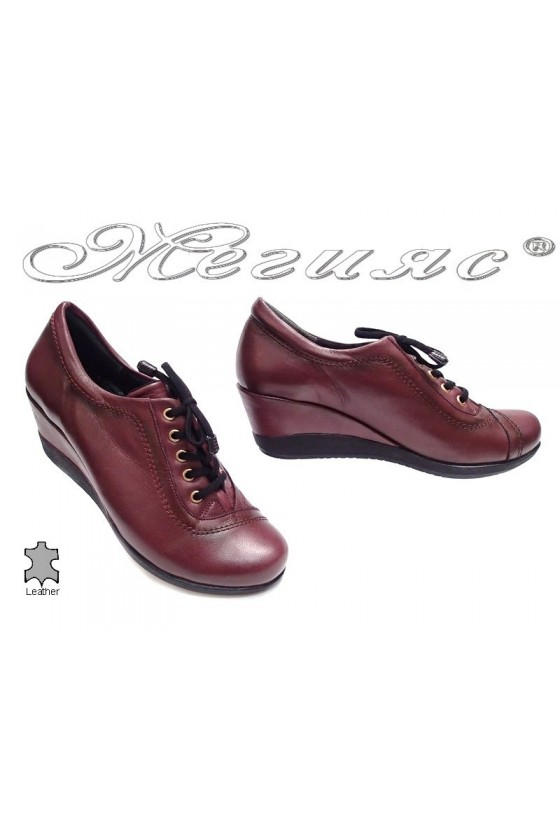 Ladies platform shoes 057 casual wine with relations