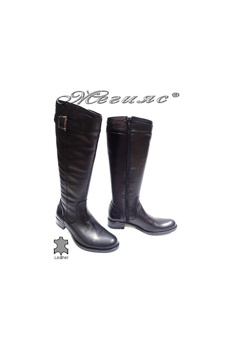 Дамски ботуши 1091-2 черни естествена кожа