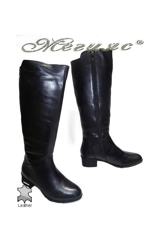 Дамски ботуши Victoria 15534 черни естествена кожа