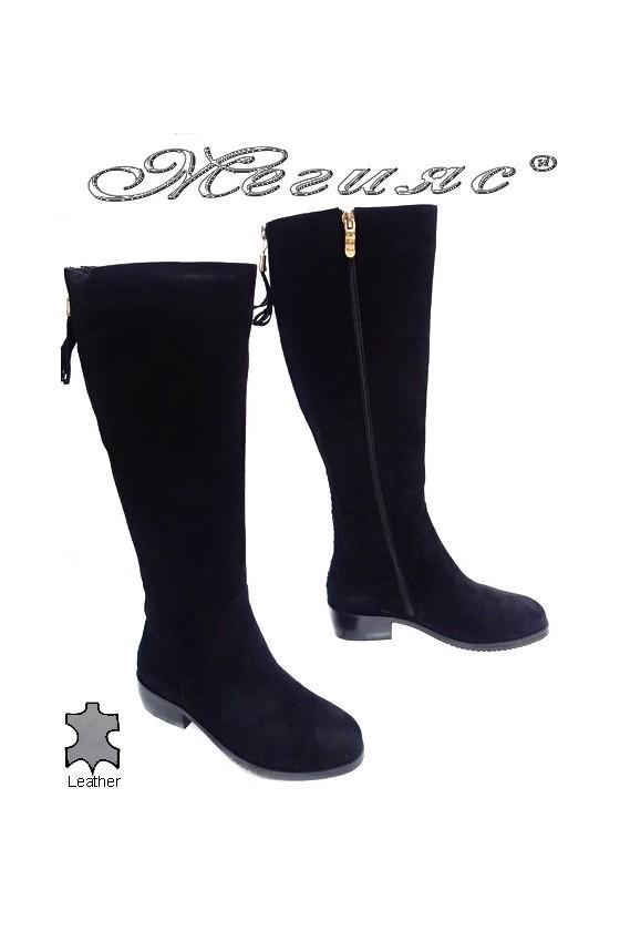 Дамски ботуши Victoria 15537 черни естествен велур