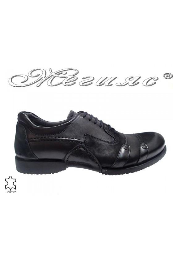 Мъжки обувки 40916 черни естествена кожа