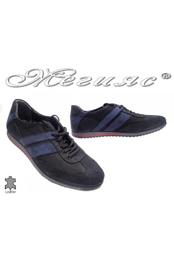 Мъжки обувки естествен велур черни