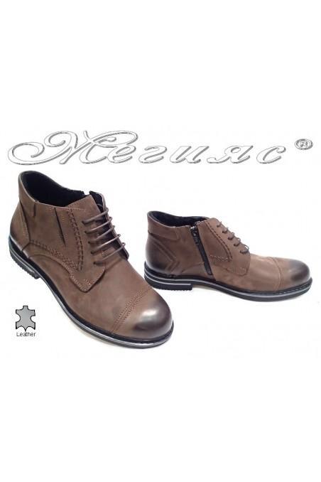men's boots Sharp 002 brown