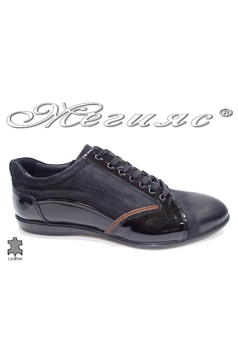 Мъжки обувки Bala 403 черни естествена кожа