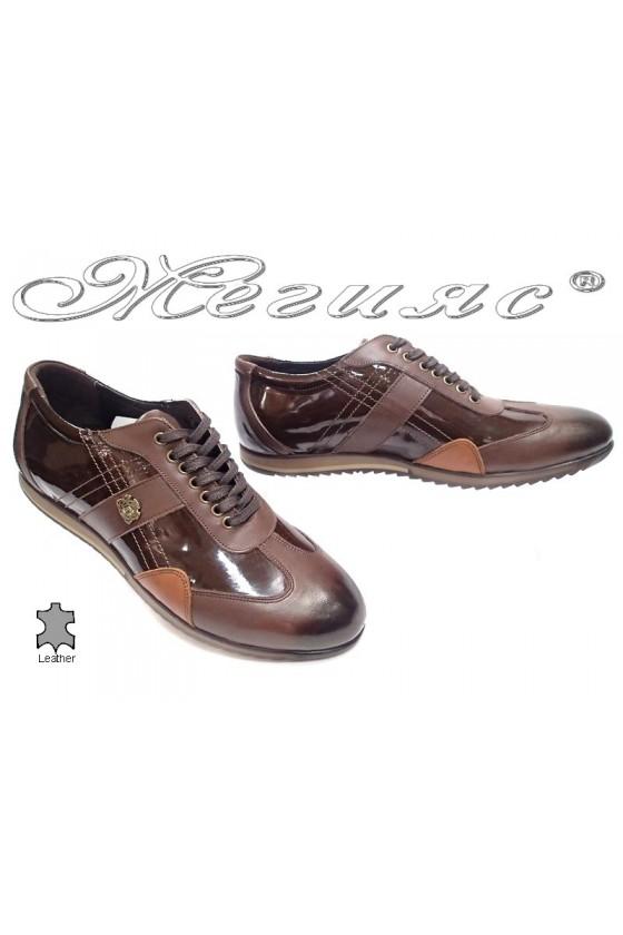 Мъжки обувки Bala 436 кафяви естествена кожа