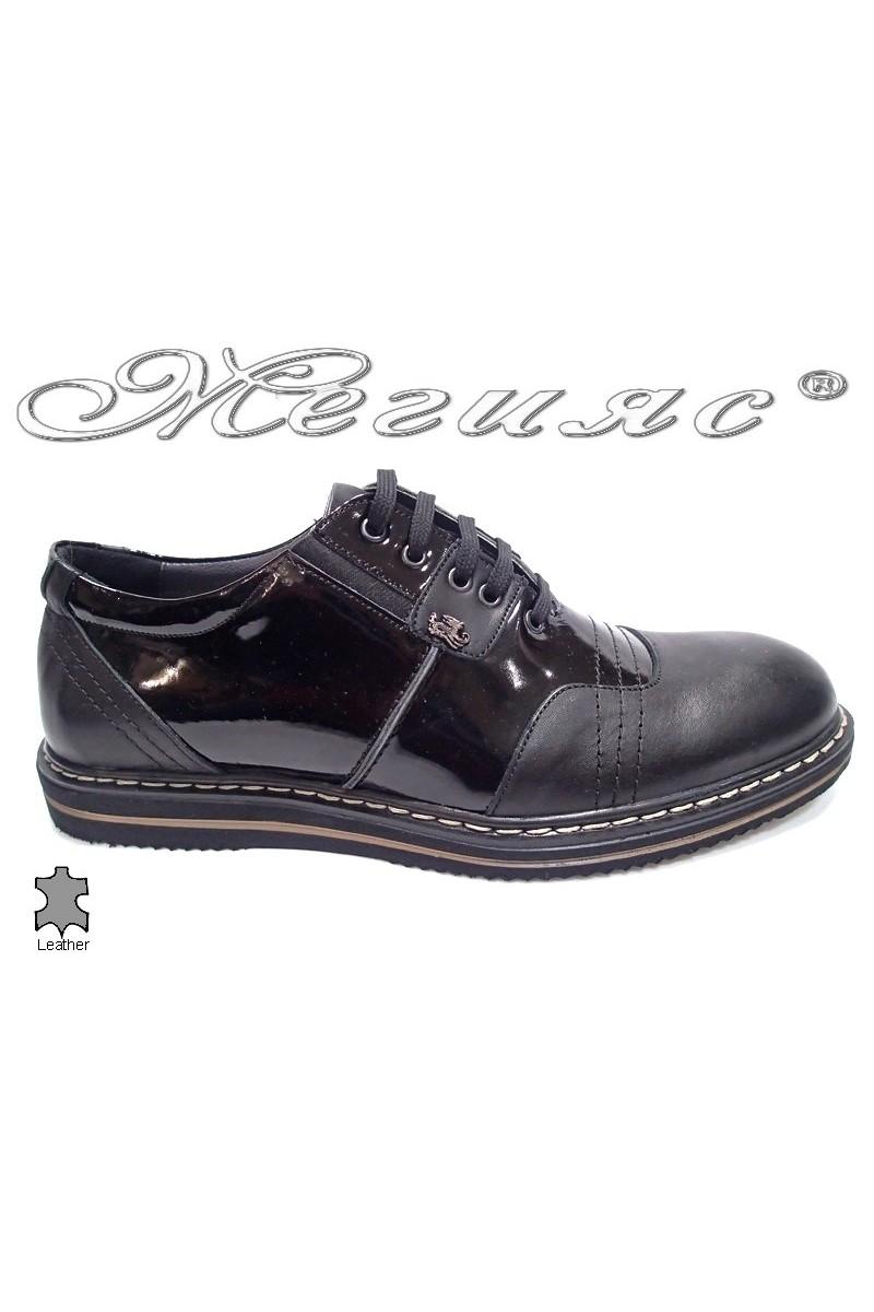 Мъжки обувки Bala 442 черни кожа естествена кожа