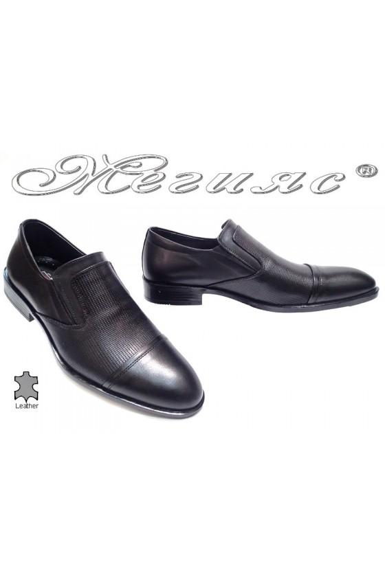 Мъжки обувки Фантазия 5132 черни мат естествена кожа