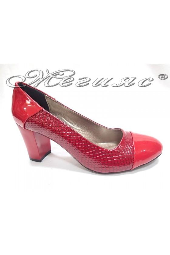 Дамски обувки 103 змия червени
