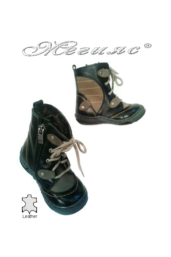 children's boots 036 black+beige