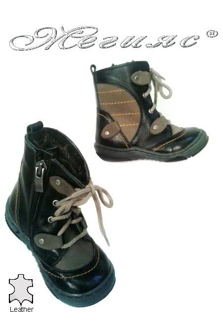 children's boots 036 black+beige
