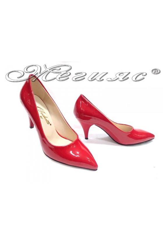 Дамски обувки 01103 червени лак