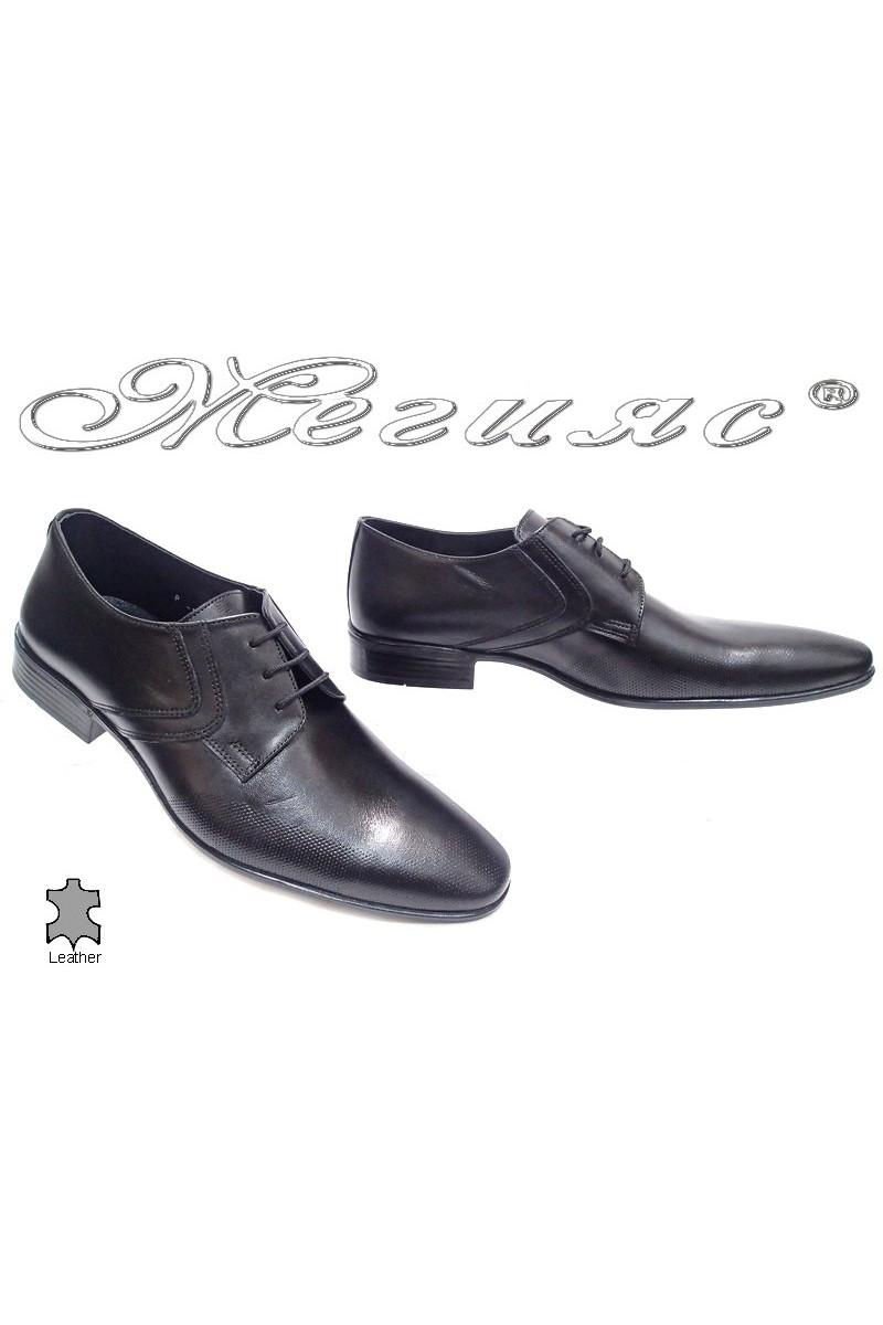 Мъжки обувки Фантазия Р-19 черно естествена кожа