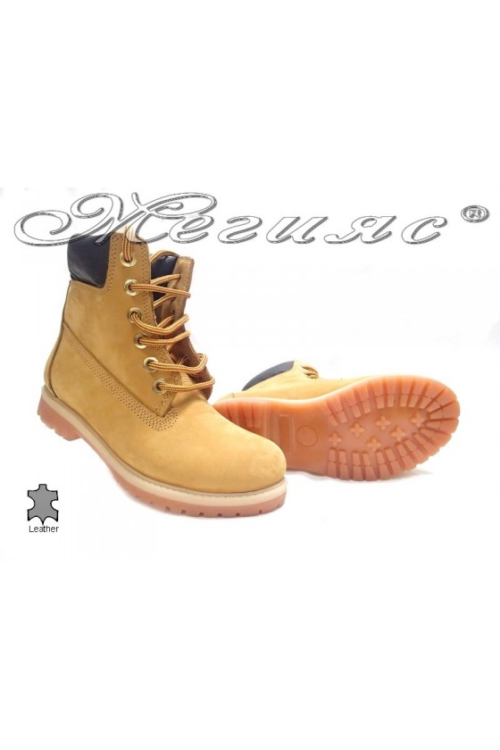 boots casual  Mer / Garson yellow suede leather