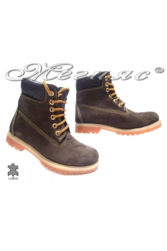 boots casual Mer / Garson brown suede leather