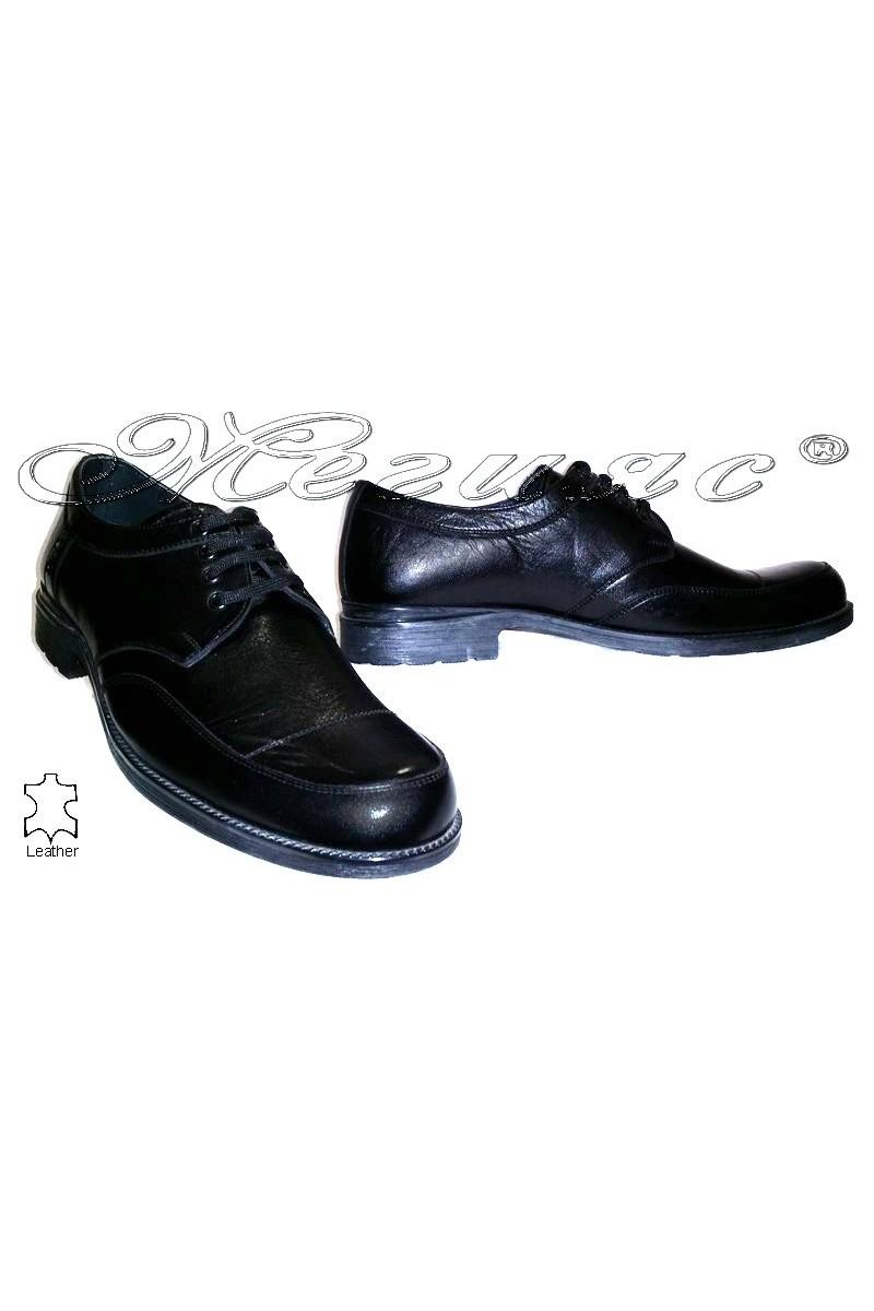 Мъжки обувки Фантазия 3907 черни естествена кожа