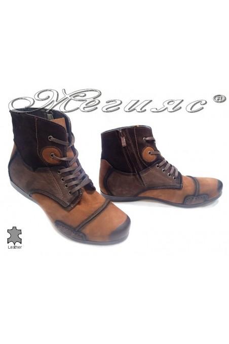 men's boots 1412 brown+taba