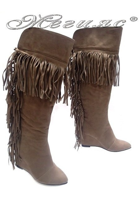 lady boots  170 beige