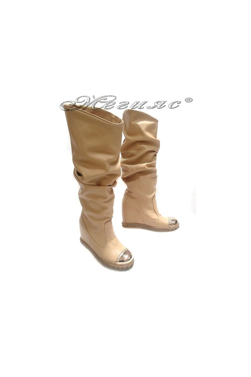Lady boots 25-37 beige