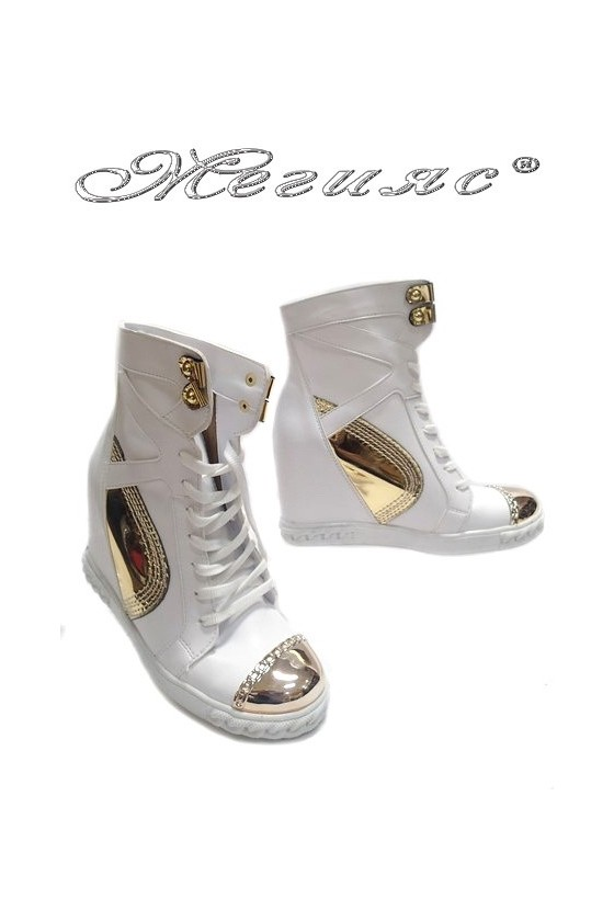 Women ankle casual boots 24-37 white pu