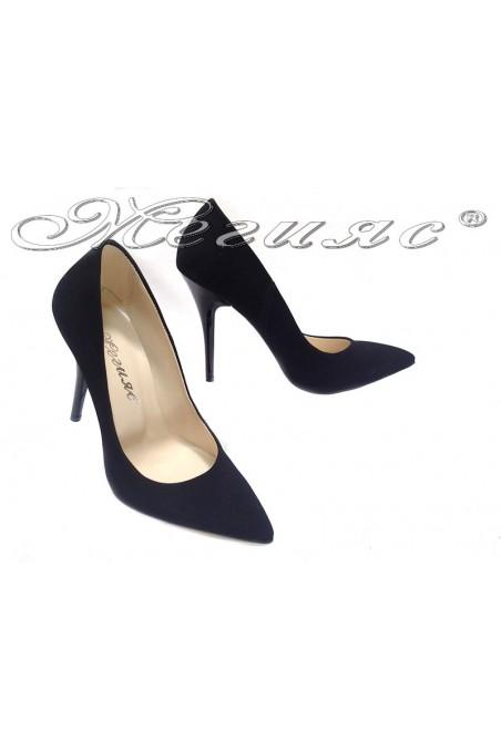 Women elegant shoes 2015 black suede high heel