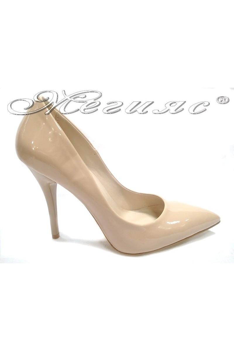 Lady shoes 2015 beige lak