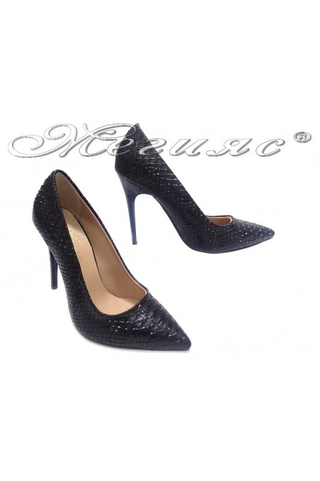 Women elegant shoes 308 high heel black