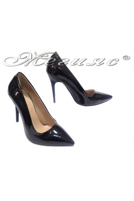 Women elegant shoes 308 high heel black pu