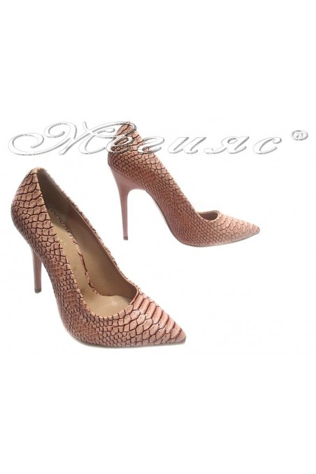 Women elegant shoes 308 pink high heel pu