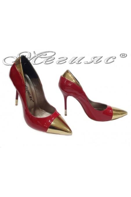Дамски обувки 011 червен лак