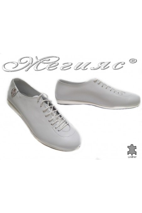 Women sport shoes 3116 white leather