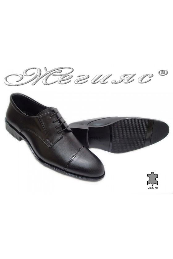 Мъжки обувки Фантазия 5130 черни мат естествена кожа